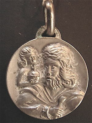 Medal Silver Saint Christopher Vintage 1960/70) New
