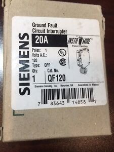 GFCI 20A/120V single pole Siemens