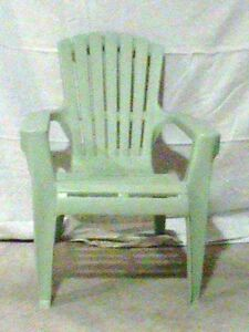 2 Kids chairs light green colour