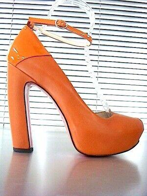 Plateau tacco donna scarpe vera pelle IT 43 EU 4
