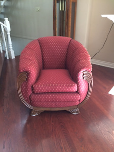Unique Tub Chair with Matching Ottoman
