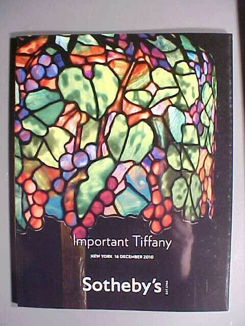 Sotheby 12/16/10 TIFFANY lamps art glass vases