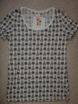 ORLA KIELY FOR UNIQLO - GREY & WHITE  PEARS GRAPHICS T-SHIRT- SIZE S - BNWT