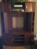 Wooden corner TV/entertainment cabinet for sale