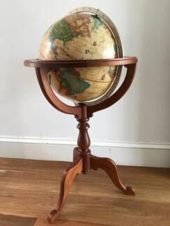 Antique style world globe