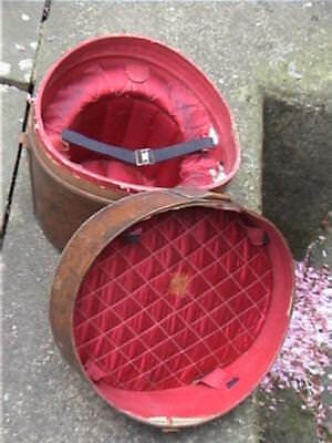 Vintage Army & Navy Leather Hatbox to store & transport your Silk Top Hat