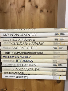 NAtional Geographic Hard cover books
