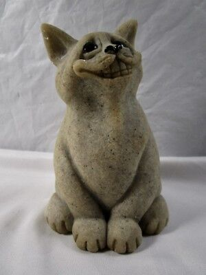 Quarry Critters Second Nature Design CHICO GRAY Kitty Cat Figurine In Box for sale  Pomona