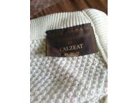 Beautiful cream wool unused Scottish blanket