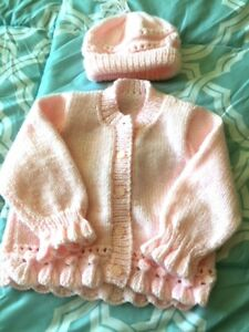 GIRLS KNITTED BABY SET