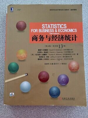 Statistics for Business and Economics by Anderson, Sweeney 13th