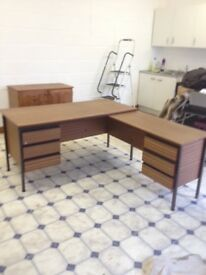 Corner Office Desk Unit with drawers