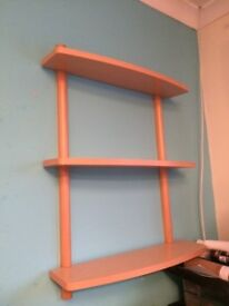 2 Sets of Shelves. Beech Good condition