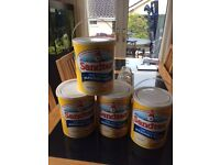 Sandtex Masonary Paint 3 x 5 litres Fine Textured in Ivory Stone Colour