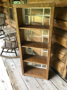 Three Book Cases with Antique Windows