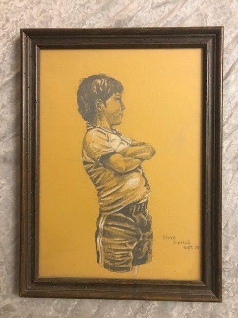 Montana Artist- Steve Oiestad - Drawing - Young Boy - Pencil-Nice