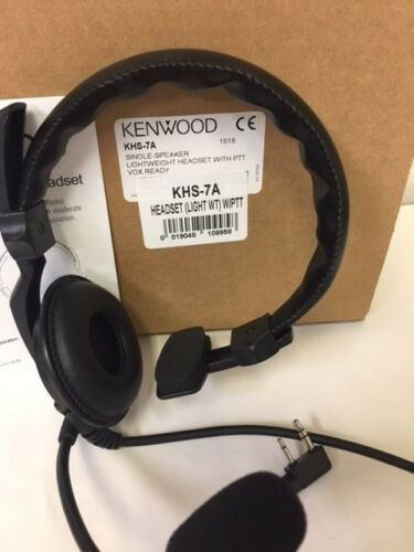 Kenwood KHS-7A Lightweight Headset W/ PTT VOX Ready For TK3100 Series 2-Pin NEW