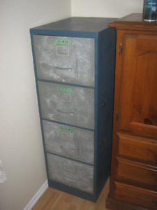 FILE CABINET , about 5 ft tall , nice and wide and drawers slide