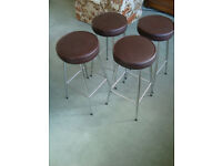 SET OF FOUR RETRO BAR STOOLS IN GOOD CONDITION house move forces sale.
