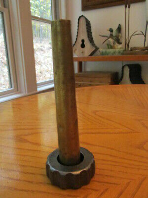 Antique Enterprise 8 Qt Sausage Stuffer Lard Press Part Spout Nut Original