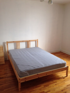 IKEA bed (frame/mattress/slatted bed base) SIZE: DOUBLE