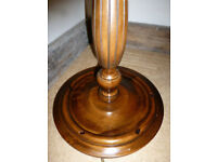 Vintage Solid Wood Turned Carved Floor Standing Standard Lamp Collect Totton Southampton