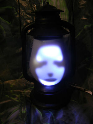 ANIMATED HAUNTED GRAVEYARD LANTERN REAPER * LED LIGHTED / TALKING HALLOWEEN PROP