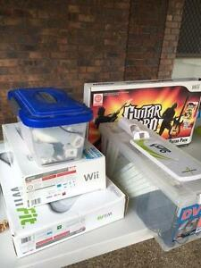Wii Console, controllers, Wii Fit, Guitar hero and games Bellbird Park Ipswich City Preview