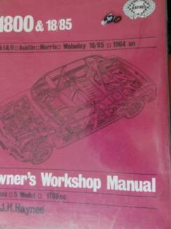 Mk1 & 11 AUSTIN MORRIS WOLSELEY 18/85 1800 WORKSHOP MANUAL