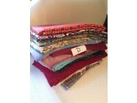 Batch D retro vintage fabric material includes cottons & viscose