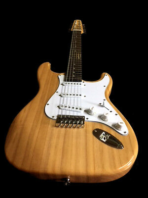 New 12 String Strat Style Vintage Natural Top Electric Guitar Project