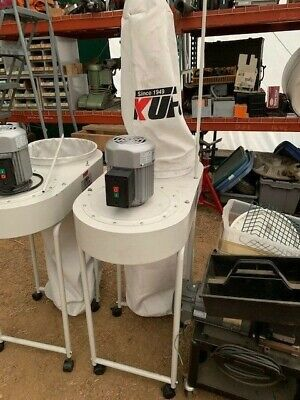 Kufo Seco 2hp Ufo-101h Vertical Dust Collector Wired For 220vac 3 Phase Wbags