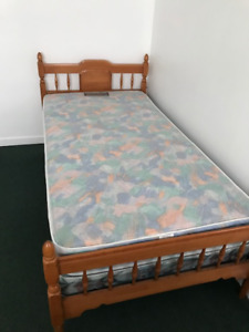 Complete Twin Bed with Mattress and BoxSpring for $100