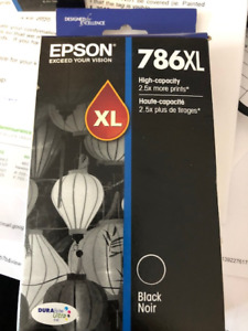 Epson 786 XL Black Ink Cartridges (3)