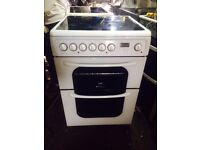 £134.00 Hotpoint ceramic electric cooker+60cm+3 months warranty for £134.00