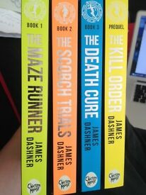 The Maze Runner book series by James Dashner (set of 4)