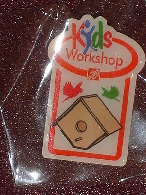 NEW THE HOME DEPOT KIDS WORKSHOP BIRD HOUSE PIN COLLECTIBLE RARE COLLECTORS