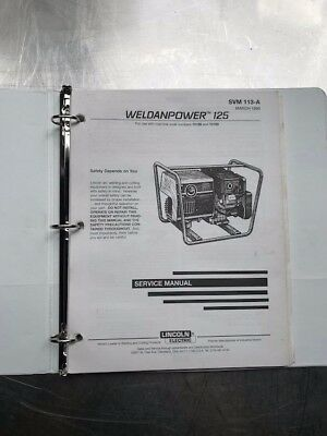 Lincoln Electric Weldanpower 125 Service Manual Svm113a