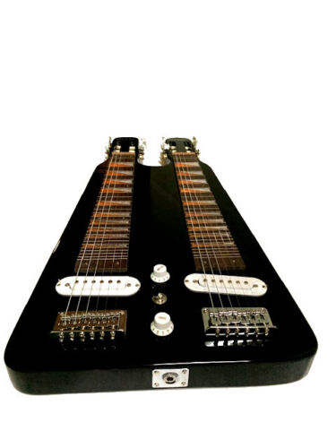 GREAT PLAYING NEW BLACK 6/6 DOUBLE LAP STEEL SLIDE  ELECTRIC GUITAR
