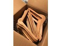 Ikea wooden hangers - 1 box of