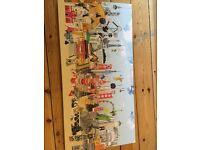 vintage retro Habitat picture painting print city scene