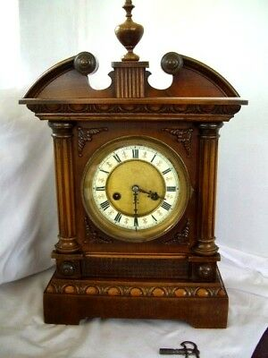 Antique German HAC Wurttrmberg Crossed Arrows Mantel Clock
