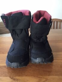 Kids Snow boots (black) size 38 worn for a week