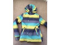 Girls age 12 O'Neill ski jacket yellow grey and aqua £30.00
