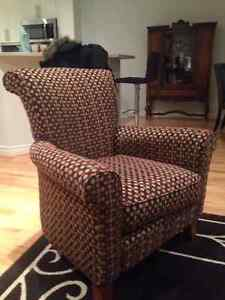 Patterned sofa chair - wing chair London Ontario image 1