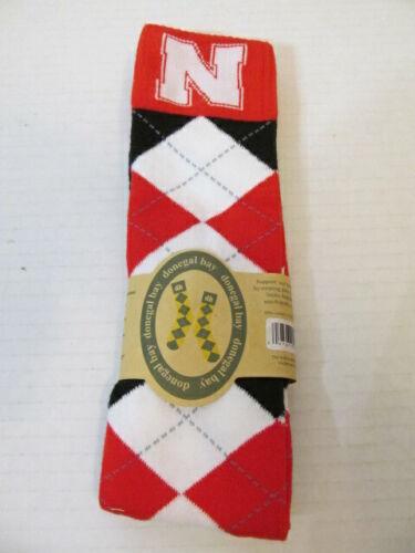 Donegal Bay University of Nebraska Argyle Socks, One Size Fits Most
