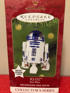 Star Wars ornaments R2D2 C3P0 Darth Vader - all 4 for $20