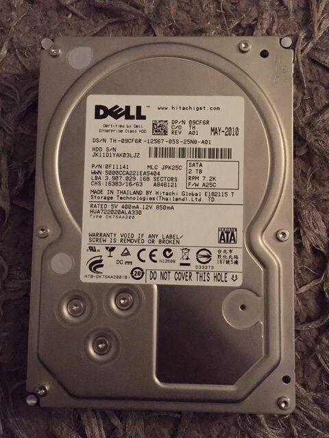 """Dell / Hitachi 2TB 3.5"""" SATA hard drive"""