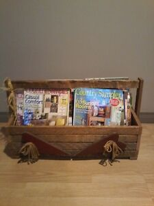 country wood crate