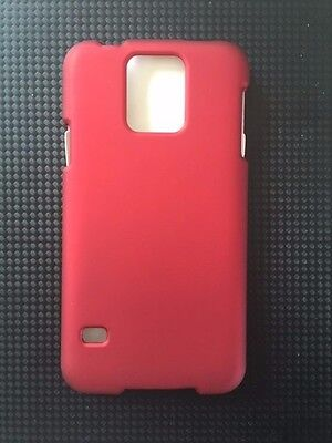 CUBE Samsung Galaxy S5 - Metallic Red Snap On - 2 Piece hard plastic case